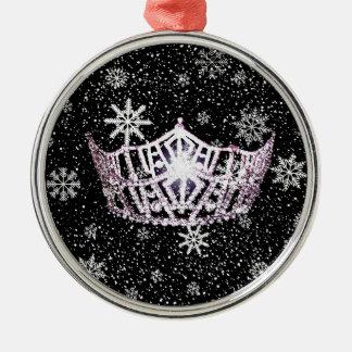 Kronen-Weihnachtsverzierung Miss Amerikas silberne Silbernes Ornament