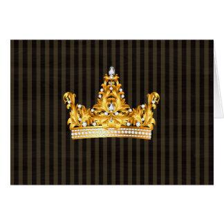 Kronengoldsareptasenf stripes königlichen Adligen Grußkarte