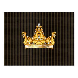 Kronengoldsareptasenf stripes königlichen Adligen Postkarte