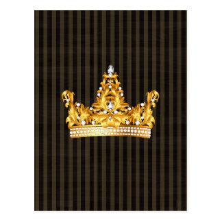 Kronengoldsareptasenf stripes königlichen Adligen Postkarten
