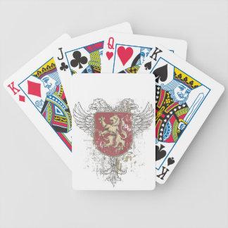 Kronenlöwe und das Kennzeichen Bicycle Spielkarten