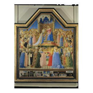 Krönung der Jungfrau, c.1430-32 Postkarte