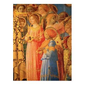 Krönung Fra Angelico- der Jungfrau (Detail) Postkarte