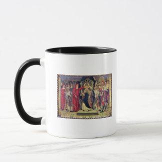 Krönung von Papst Celestine V im August 1294 Tasse