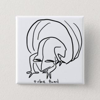 Kröte Quadratischer Button 5,1 Cm