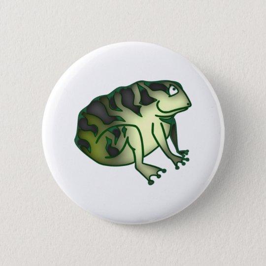 Kröte toad runder button 5,1 cm