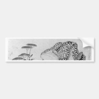 Kröte und Blumen - Japaner (Edo-Zeitraum) Autoaufkleber