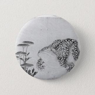 Kröte und Blumen - Japaner (Edo-Zeitraum) Runder Button 5,7 Cm