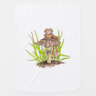Kröten, die eine Buch-Baby-Decke teilen Kinderwagendecke
