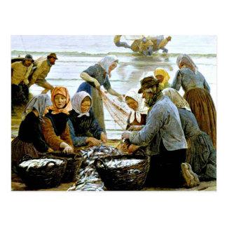 Kroyer - Frauen und Fischer von Hornbaek Postkarte