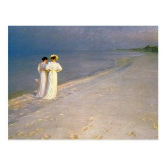 """Kroyers """"Sommer-Nachmittag auf Skagen Strand """" Postkarte"""