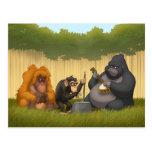 Krug-Band der Affen-Postkarte