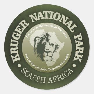 Kruger Nationalpark Runder Aufkleber