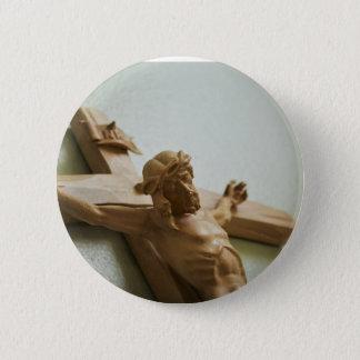 Kruzifix-Knopf Runder Button 5,1 Cm