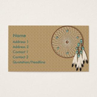 KRW-amerikanischer Ureinwohner Dreamcatcher Visitenkarte