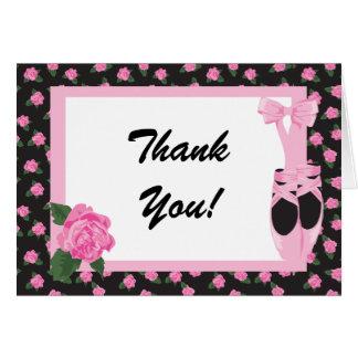KRW-Ballerina-Rose danken Ihnen zu merken Karte
