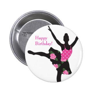 KRW-Ballerina-Rosen-alles- Gute zum Geburtstagknop Button