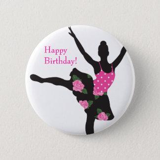 KRW-Ballerina-Rosen-alles- Gute zum Runder Button 5,7 Cm