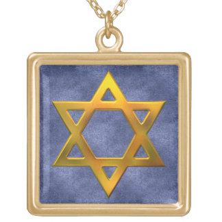 KRW-Davidsstern Sterlingsilber-Halskette Vergoldete Kette