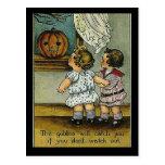KRW-Kobolde erhalten Sie Vintages Halloween Postkarte
