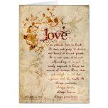 KRW-Liebe ist die Korinther, die Einladung Ecru Karte