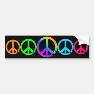 KRW-Regenbogen-Friedenszeichen Autoaufkleber