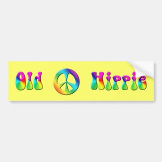 KRW-Regenbogenaltes Hippie-Friedenszeichen Autoaufkleber