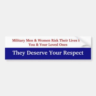 KRW-Respekt unser MilitärAutoaufkleber Autoaufkleber