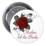 KRW-Rosen-Mutter des Braut-Hochzeits-Buttons
