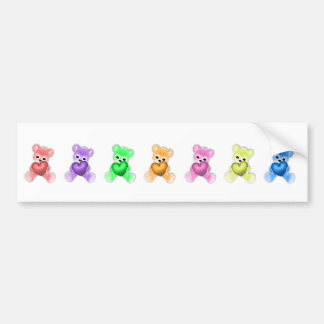KRW-Teddybär-Regenbogen Autoaufkleber