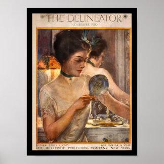 KRW Vintager Delineator-Zeitschrift-Druck 1910 Plakatdruck
