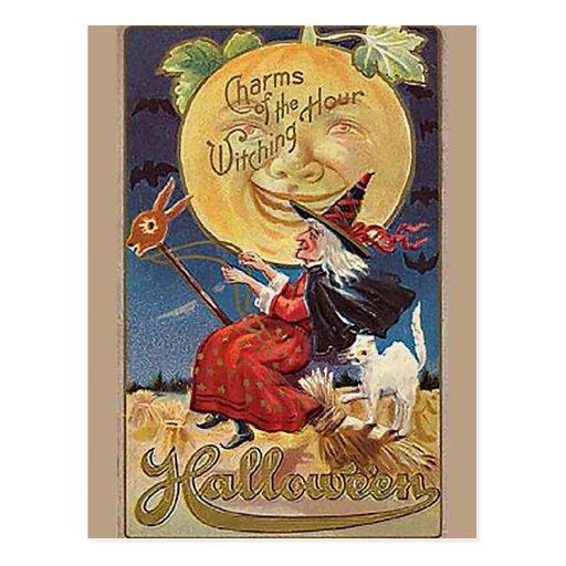 KRW Vintages Halloween Postkarte