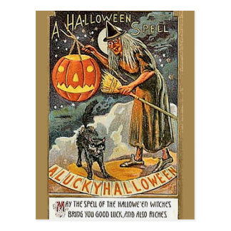 KRW Vintages Halloween Postkarten