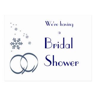 KRW-Winter-Hochzeits-kundenspezifische Postkarte