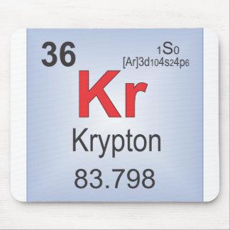 Krypton-einzelnes Element des Periodensystems Mauspads
