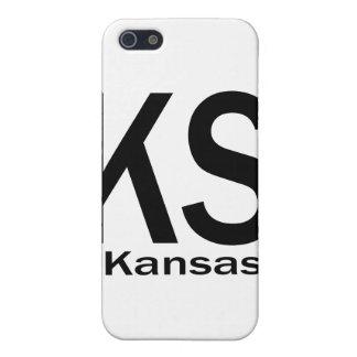 KS Kansas einfaches Schwarzes iPhone 5 Case