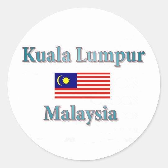 Kuala Lumpur Runder Aufkleber