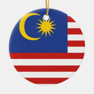 Kuala- Lumpurflagge Keramik Ornament