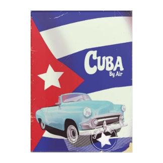 Kuba auf dem Luftweg Acryl Wandkunst