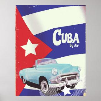 Kuba auf dem Luftweg Poster