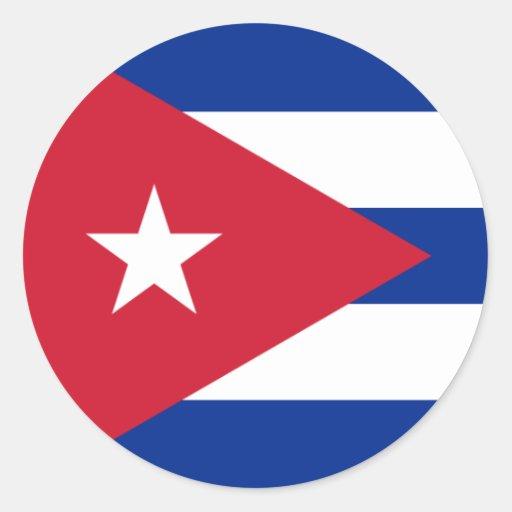 Kuba Runder Sticker
