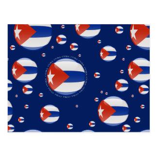 Kuba-Blasen-Flagge Postkarte