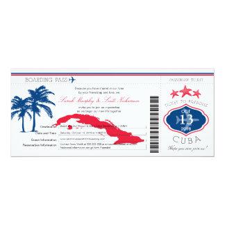 Kuba-Boarding-Durchlauf-Hochzeit 10,2 X 23,5 Cm Einladungskarte