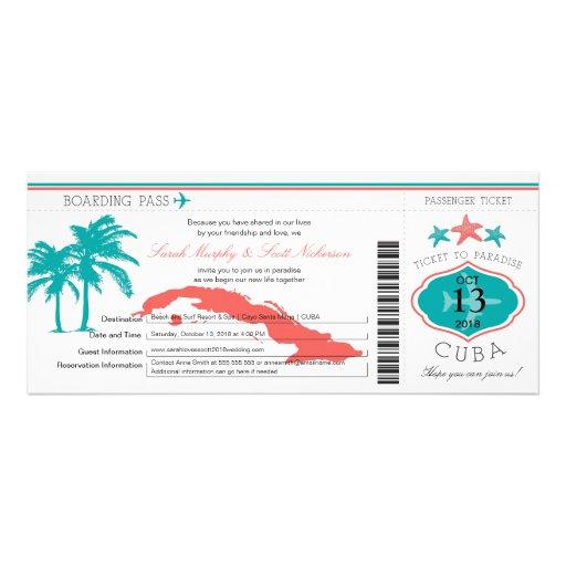 Kuba-Boarding-Durchlauf-Hochzeit Individuelle Ankündigungen