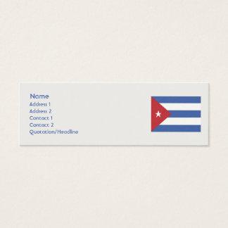 Kuba - dünn mini visitenkarte