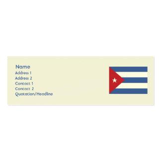 Kuba - dünn visitenkarten vorlagen