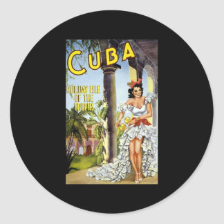 Kuba-Feiertags-Insel der Tropen Runde Aufkleber