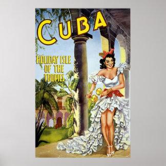 Kuba-Feiertags-Insel der Tropen Poster