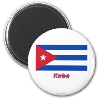 Kuba Flagge MIT Namen Runder Magnet 5,1 Cm