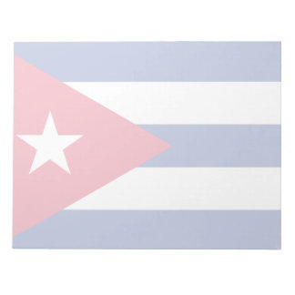 Kuba-Flagge Notizblock